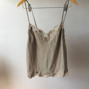 VICTORIA'S SECRET lace trim shirt
